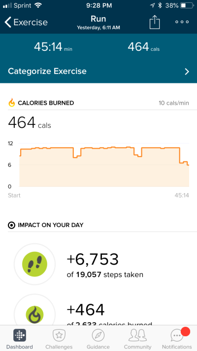 ...and some of the metrics from the same run.